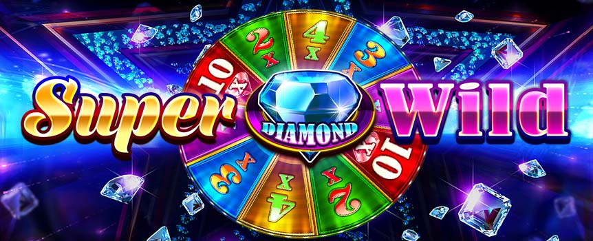 Welcome to Super Diamond Wild, an innovative 3-reel game complete with an exciting Bonus Wheel, which turns this classic format into a 24-carat slot