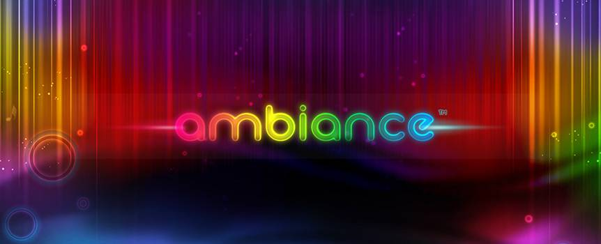 Drift into a melodic wonderland with Ambiance. This 5-reel, 20 payline slot focuses as much on sound as it does on vision, so your senses will be in for a treat as you spin the reels. With an array of musical note symbols chiming their way around each reel to a different relaxing tone, you may even create the next hit single as you play. Keep an eye out for the colourful wild Swirl symbol as it will substitute for any symbol apart from the scatter to complete paylines, and listen out for the Treble Clef symbol as it can trigger free spins and is also a multiplier.