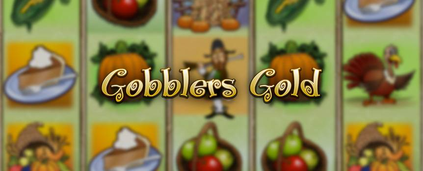 Ever wondered where Thanksgiving came from, or what the pilgrims were really up to back in America's distant past? Well, now's your chance to revisit the days of pilgrims, pumpkins and cornucopias in this fun seasonal 5-reel slot. Have a blast from the past as you embark on a turkey hunt, so you can cook up a storm for the harvest season – all with a mouth-watering side of corn on the cob and pumpkin pie. Turkey Day is here to stay, and so should you because there's no knowing where the wild turkey may lead you or what loot you might find hidden away in the fall mulch. Who knows? You might be gobbling up some big wins along with your hearty feast!