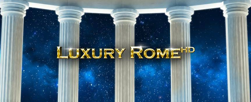 Live like a Roman Emperor and rule with honour in this ancient online slot, Luxury Rome. Challenge Roman leaders, romance Cleopatra as your Gladiators liberate treasures from the Colosseum to make them your own. Conquer Rome as you search out Colosseum scatter symbols. The Golden Gladiator is your salvation in these ancient times, triggering an instant bonus feature with multipliers across the reels.